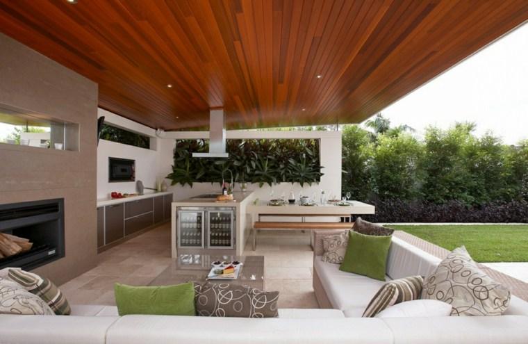 fotos de cocinas jardin espacio descanso muebles salon ideas