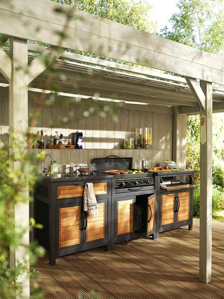 fotos de cocinas jardin pergola opciones diseno ideas