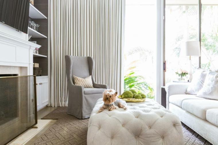 fresca vaporosas cortinas muebles natural
