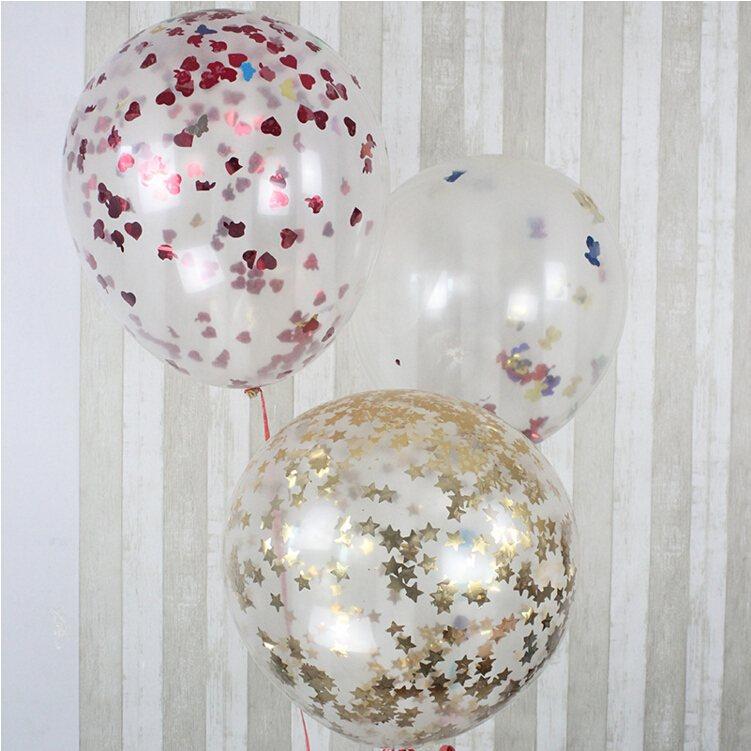 globos transparentes confeti colores