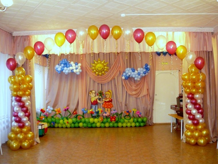 globos decoracion colorida opciones ideas