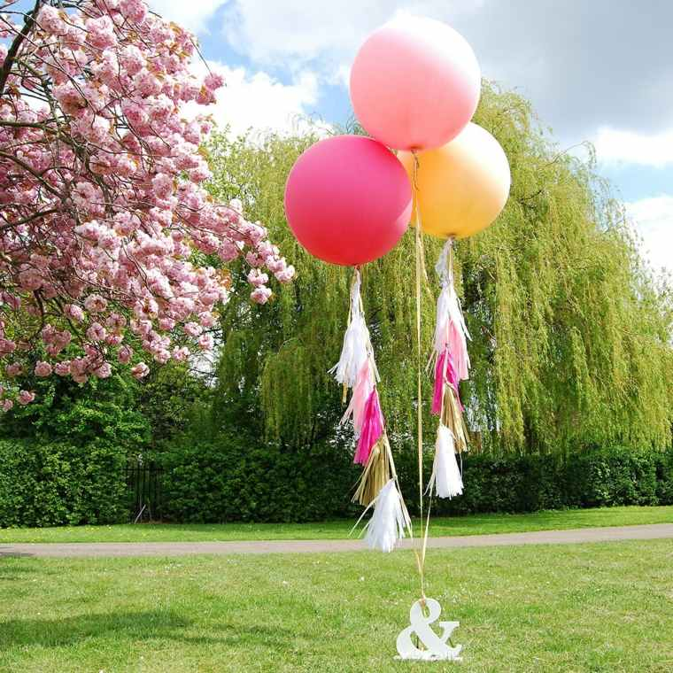 globos fiesta jardin decoracion simple ideas