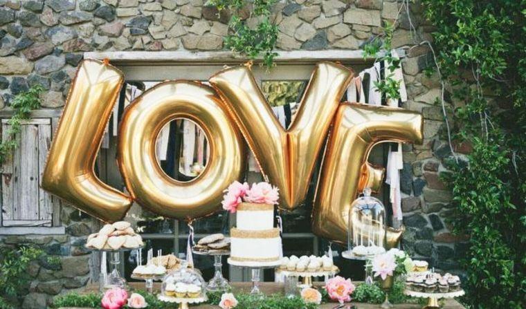 globos fiesta letras decoracion mesa ideas