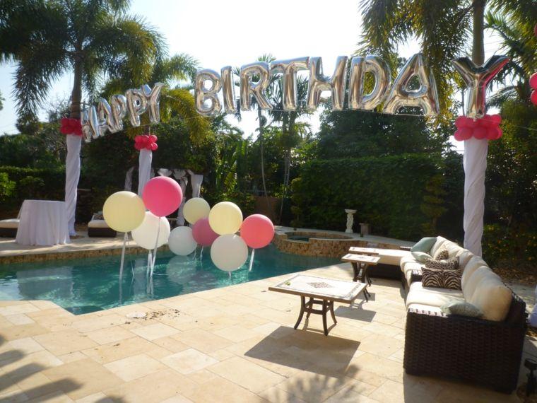 globos fiesta letras fiesta cumpleanos opciones ideas
