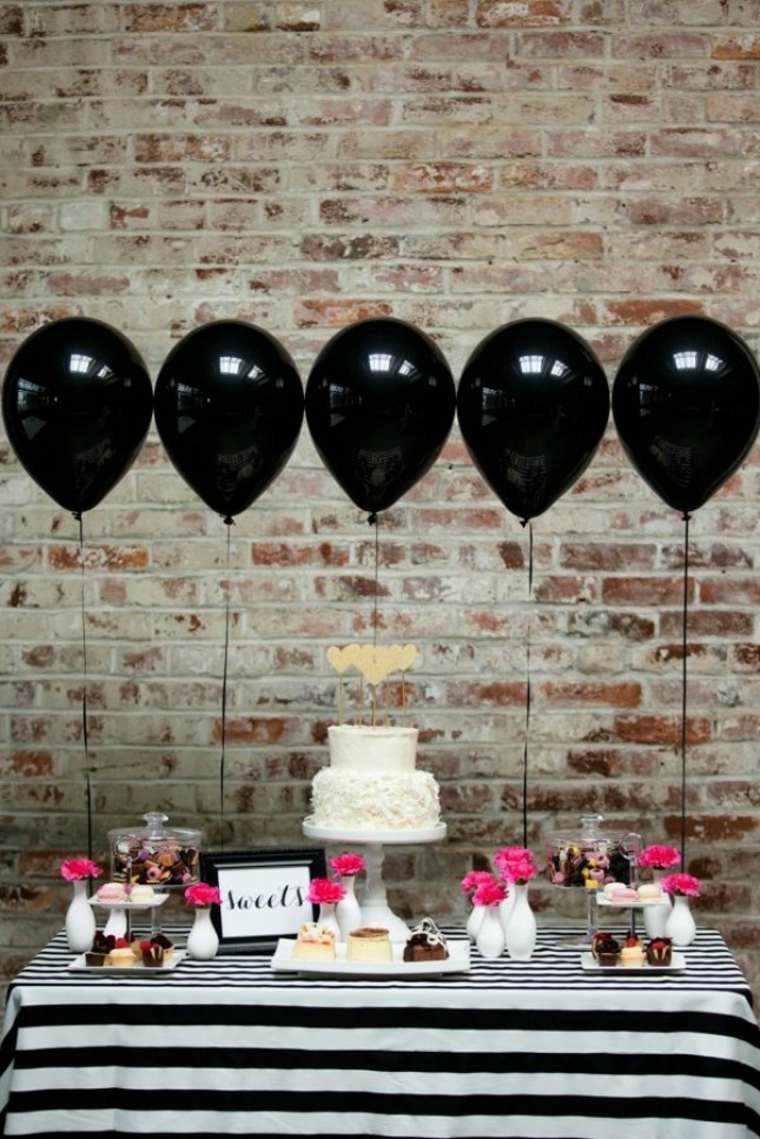 globos fiesta mesa aniversario cumpleanos globos negros ideas with ideas originales aniversario