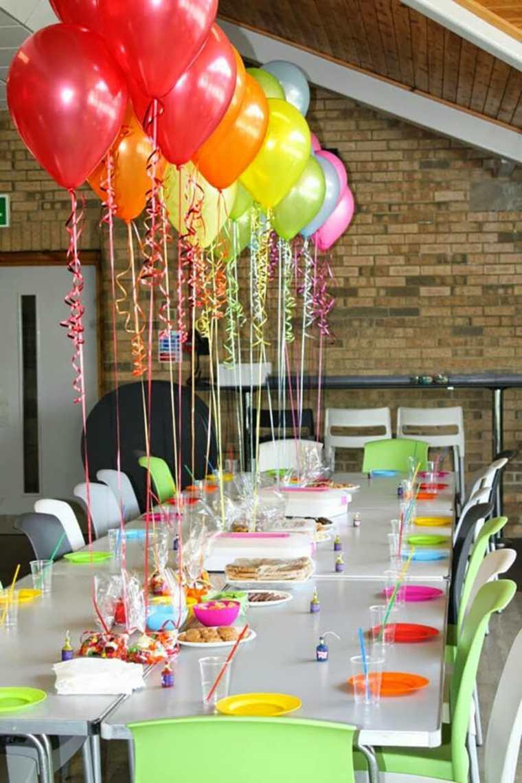 globos fiesta mesa decorada opciones ideas
