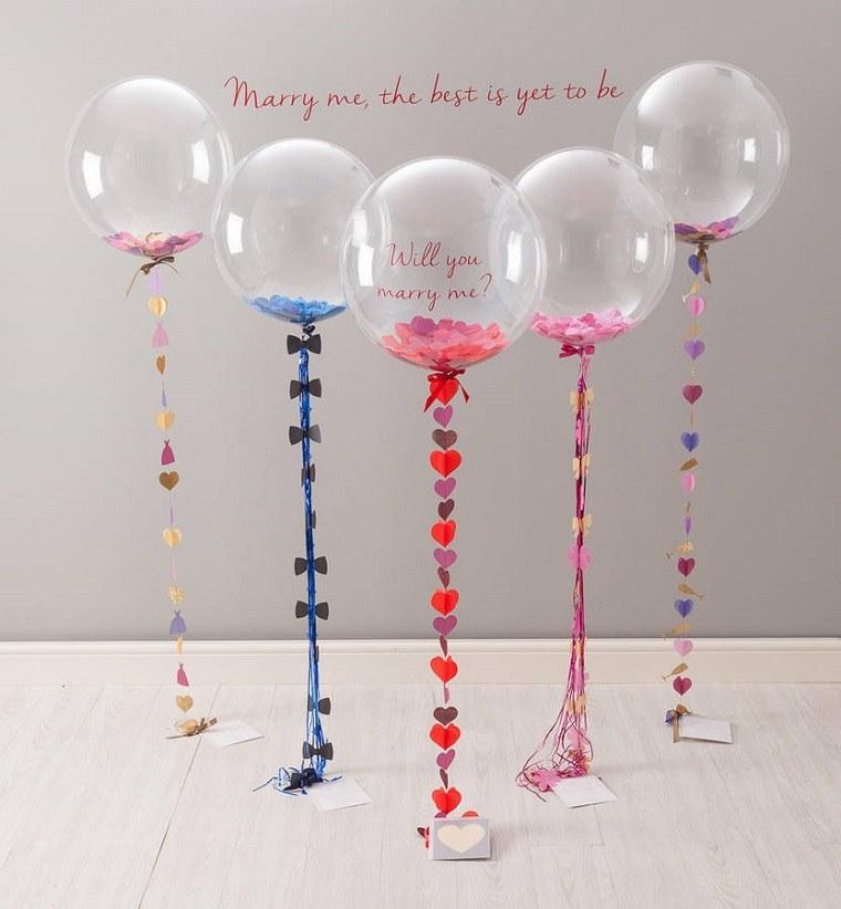 Globos de fiesta llenos de confeti ideas decorativas - Llenar globos con helio ...