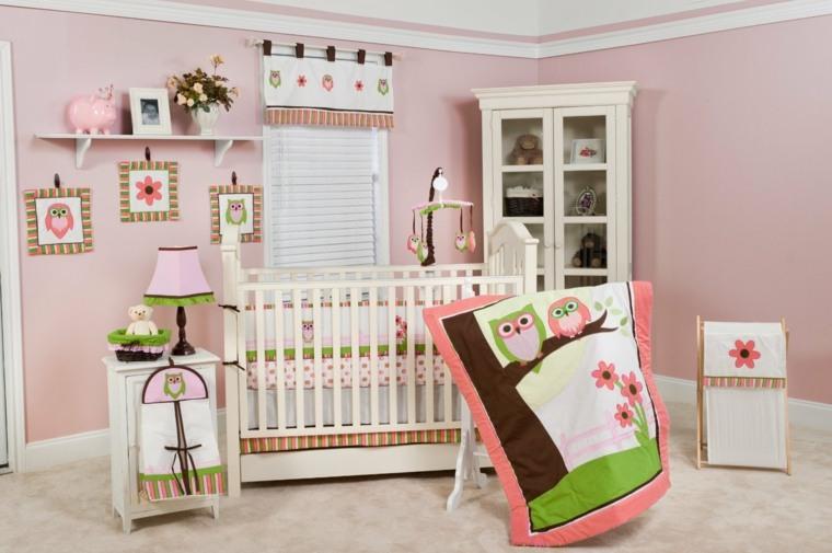 habitación para bebé niña decoración casa