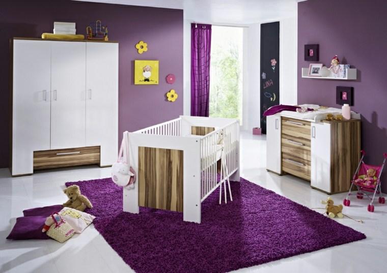 habitación para bebé niña decoración interior