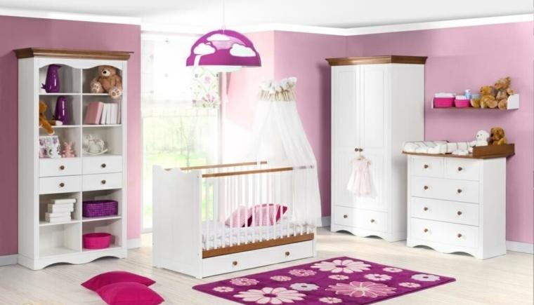 habitación para bebé niña decoración interiores