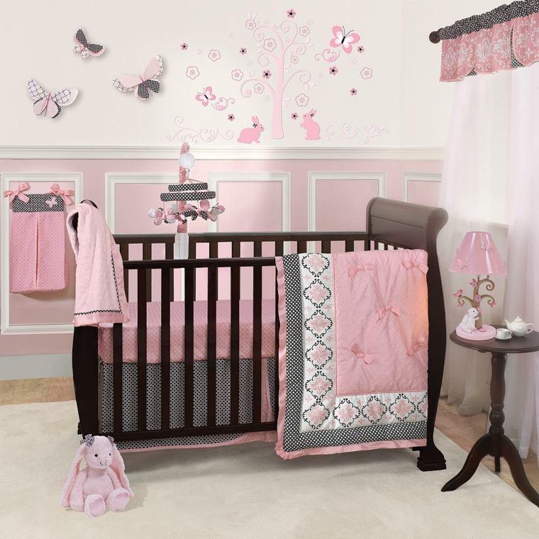 habitación para bebé niña interiores