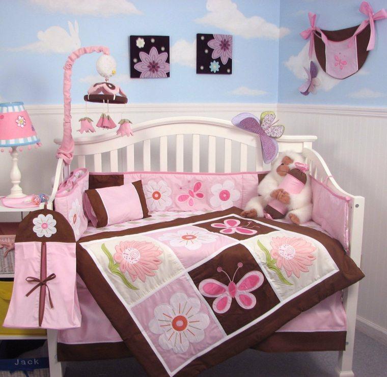 habitación para bebé niña moderna