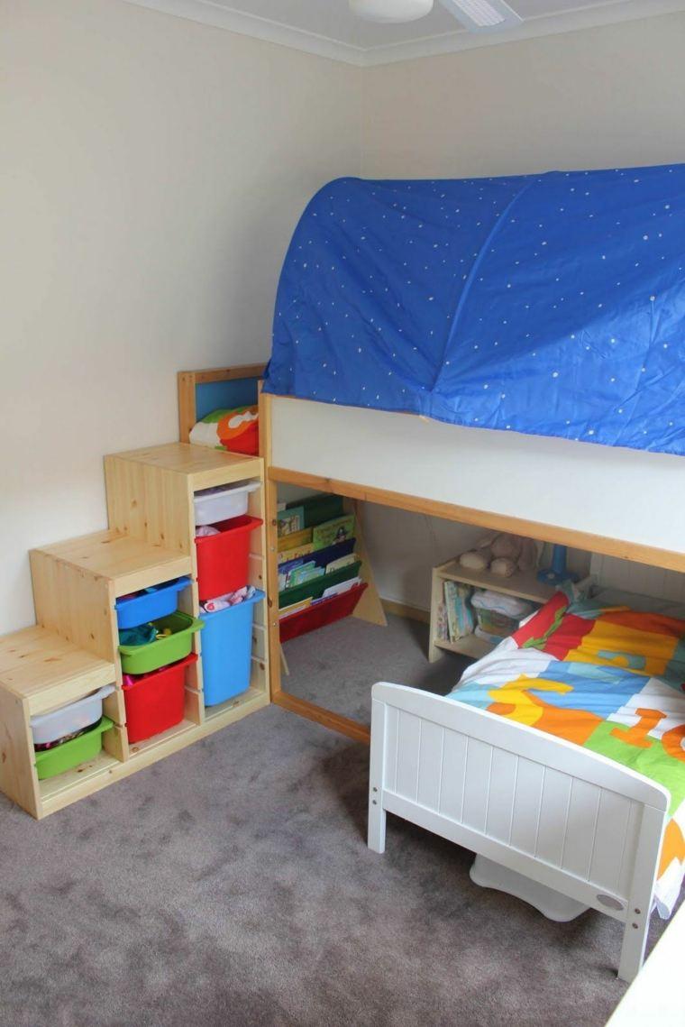Dise os de camas para ni os en madera 24 im genes for Cabanas infantiles en madera