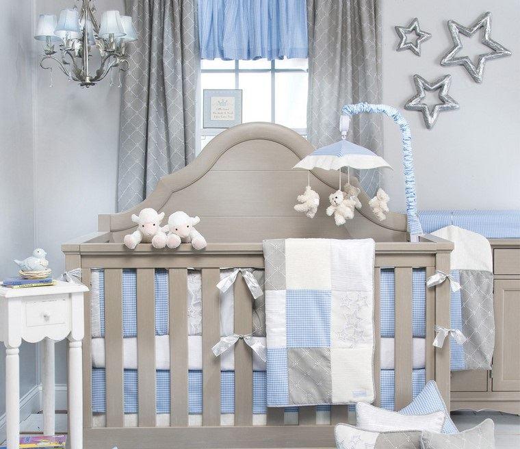 habitaciones de bebé niño decoracion cortinas ropa cama azul ideas