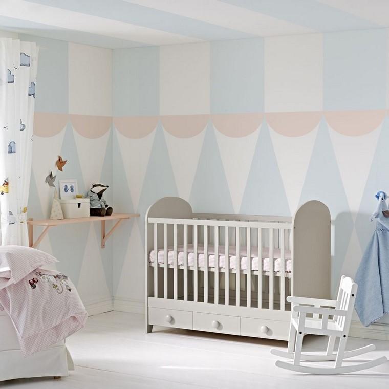 habitaciones de bebé niño decoracion gris azul ideas