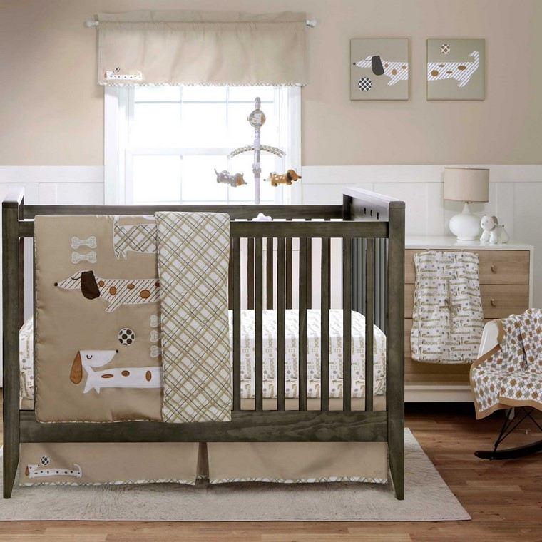habitaciones de bebé niño detalles decorativos perro ideas