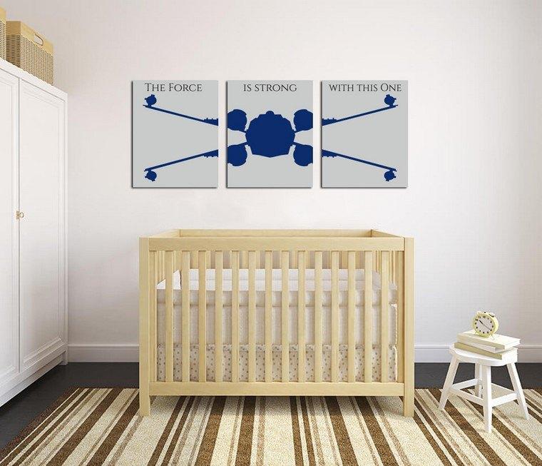 habitaciones de bebé niño detalles decorativos star wars ideas