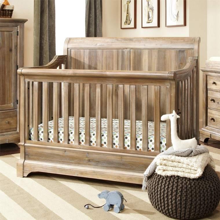 habitaciones de bebé niño diseno muebles rusticos ideas