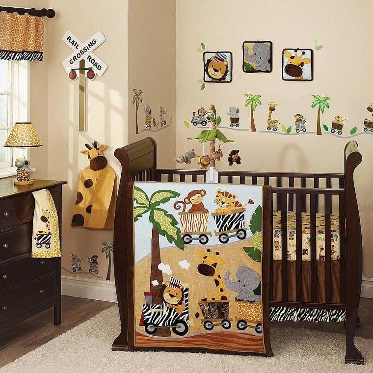 habitaciones de bebé niño muebles madera ideas