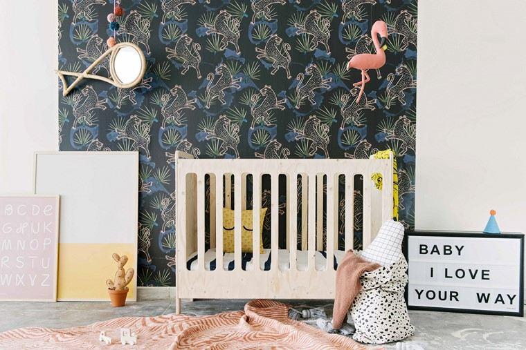 habitaciones de bebé niño papel pared detalles decorativos ideas