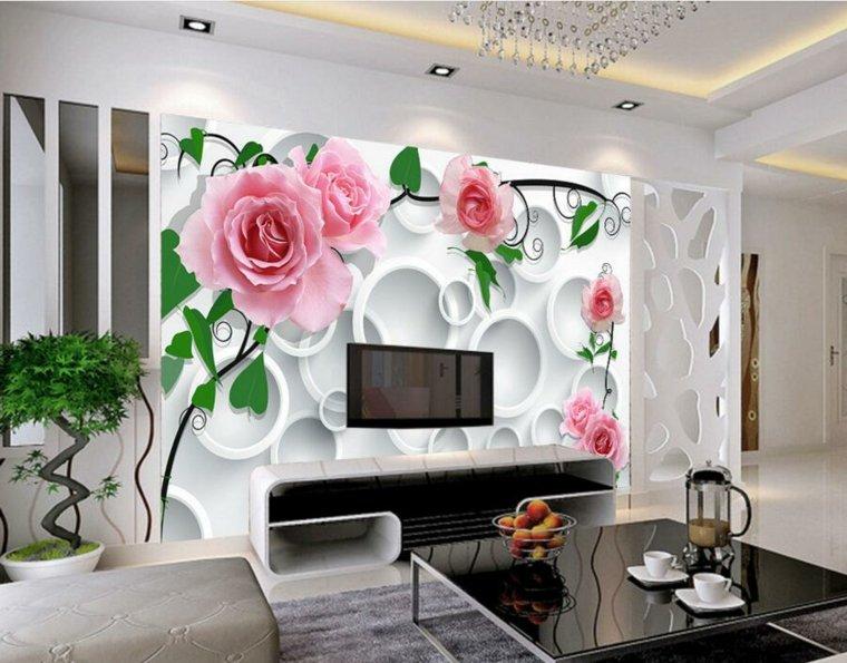 habitaciones decoradas con papel pintado