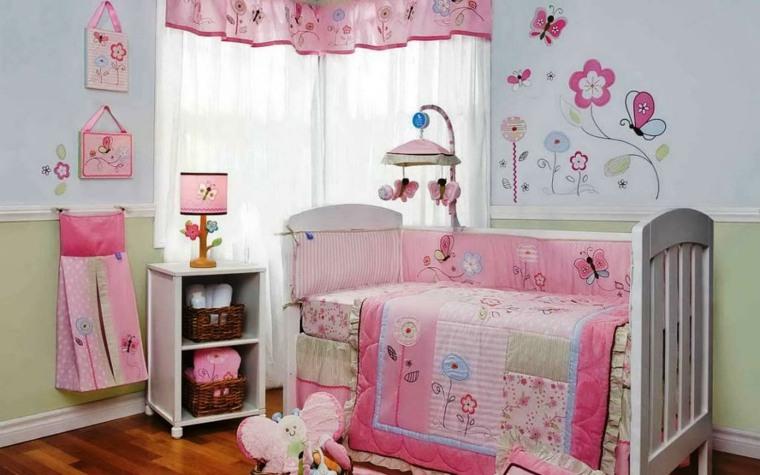 habitaciones para niñas bebés