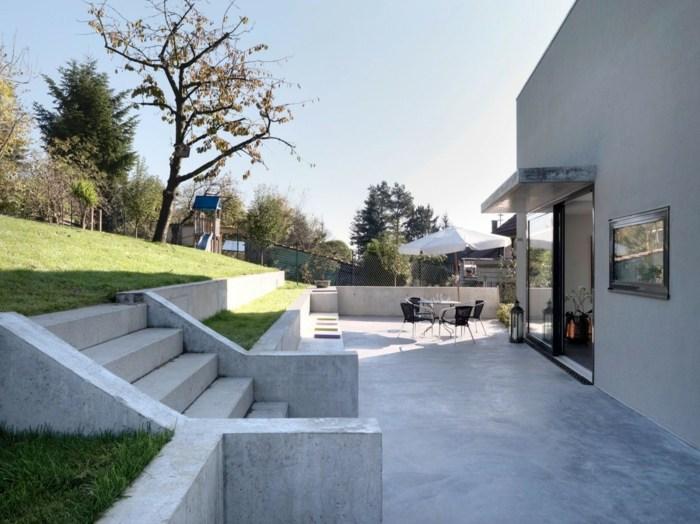 terrazas diseño minimalista materiales conceptos muebles colores