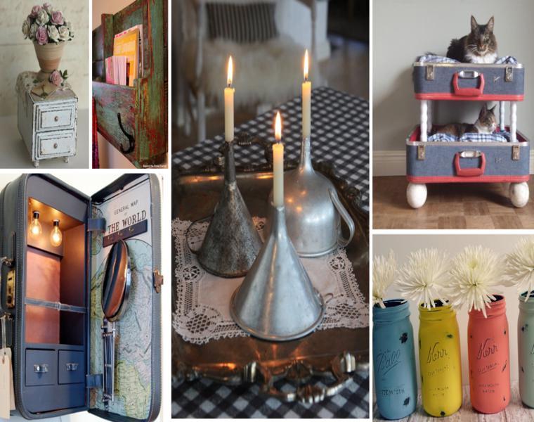 ideas decorativas objetos estilo vintage