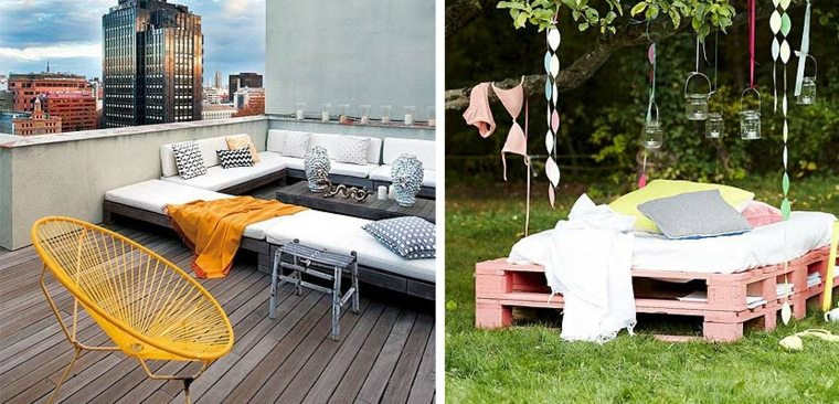 Zona chill out con palets en tu propio jard n o terraza for Jardin chill out