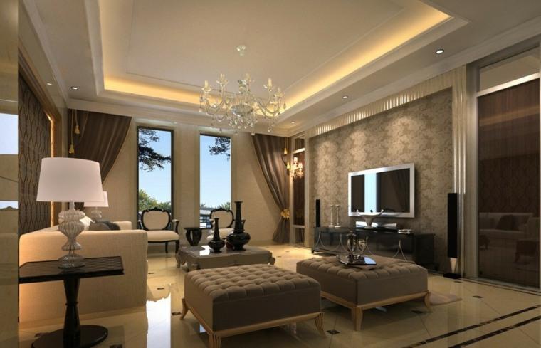 interior lujo especial calidos lineas luces led