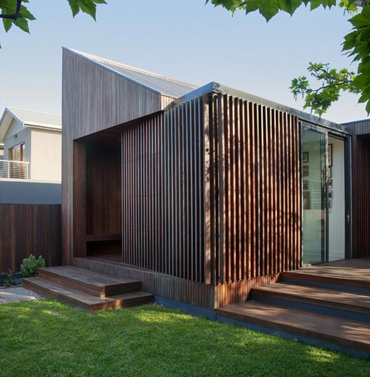 la casa modesta diseñada Coy Yiontis Architects arquitectura bonita ideas
