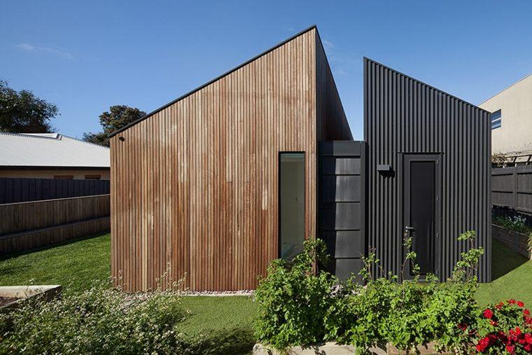 la casa modesta diseñada Coy Yiontis Architects fachada lateral ideas