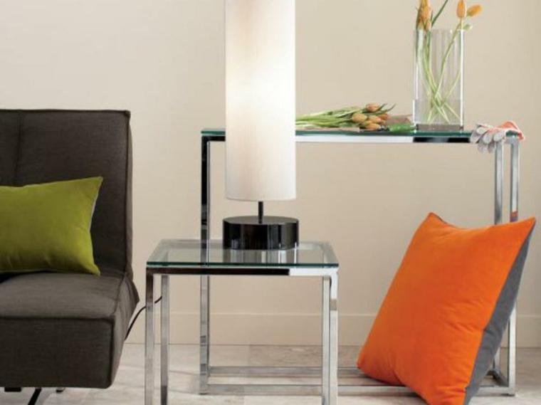 lampara salon cilindro base colores muebles