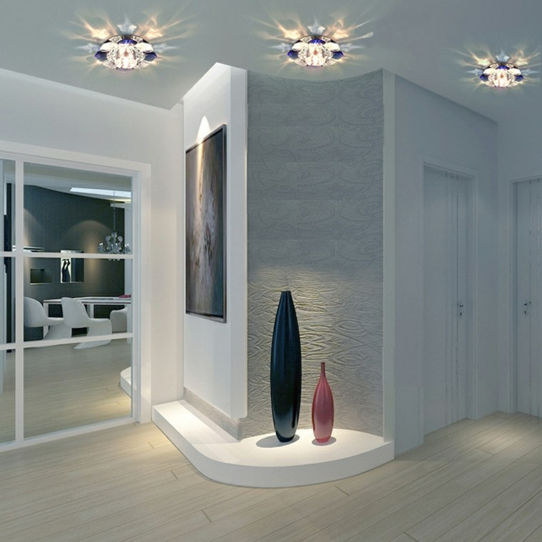 L mparas de pasillo modernas para decorar el interior - Lamparas de entrada ...