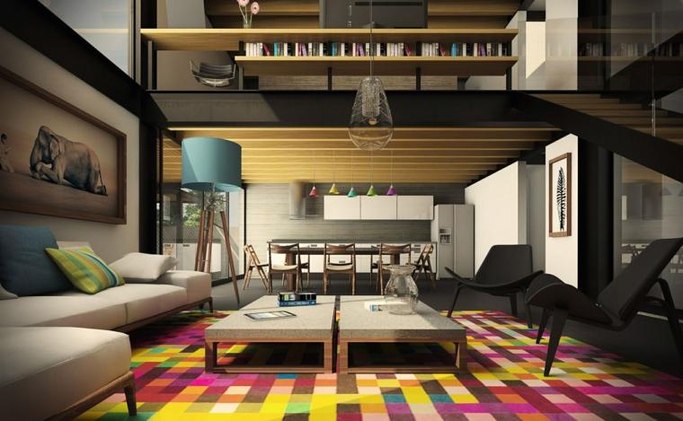 lamparas de techo para salon cuadros coloridos salas