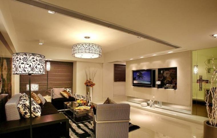 lamparas techo salon formas florales conceptos