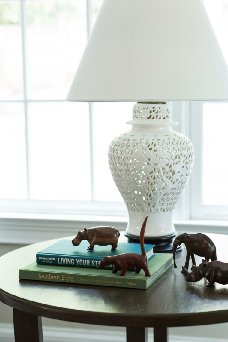 lamparas para salon detalles florales conceptos