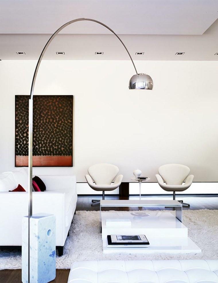 lamparas para salon metalicas circulares sillas
