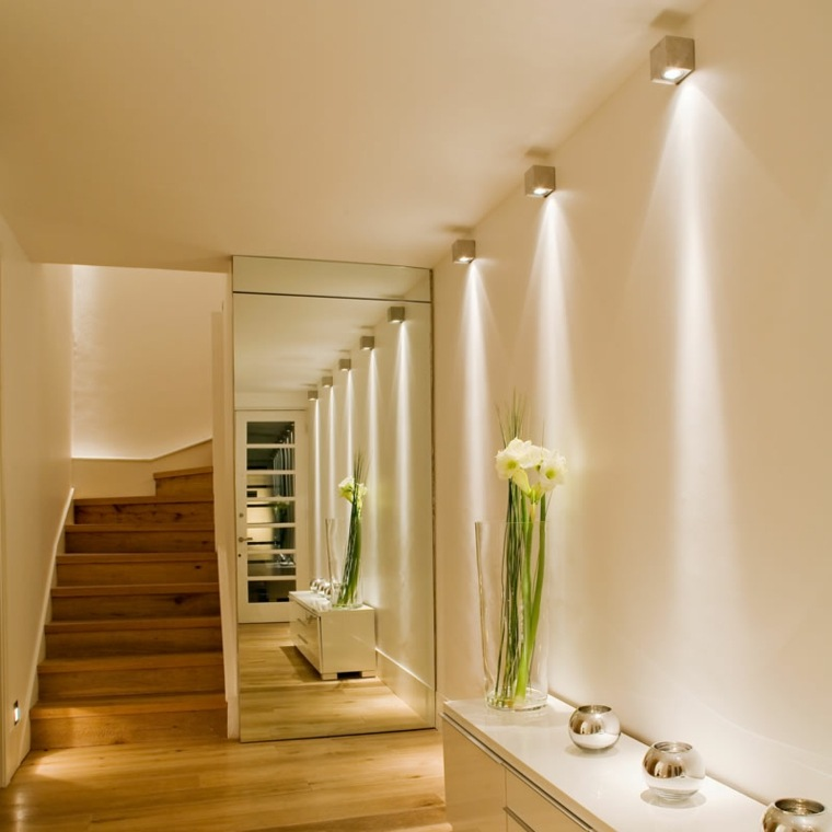 L mparas para pasillos para decorar y modernizar for Diseno pasillos interiores