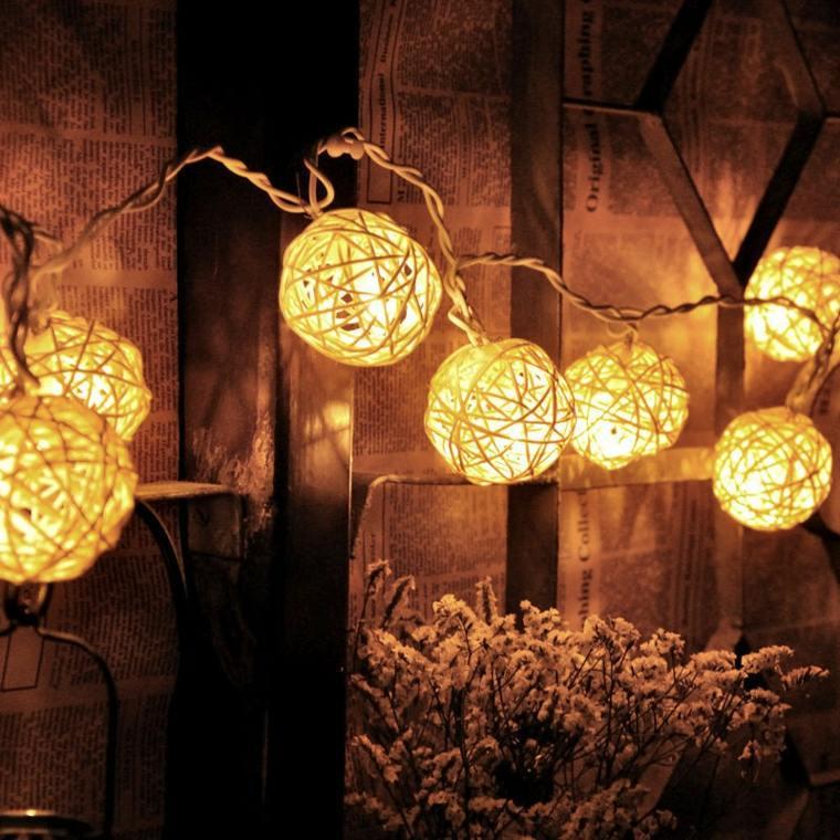 linternas bolas guirnalda moderna diseño