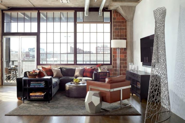 loft industrial ladrillos espacios esculturas