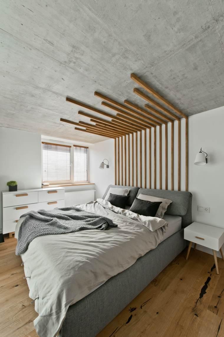 luces paredes cama iluminacion hormigon