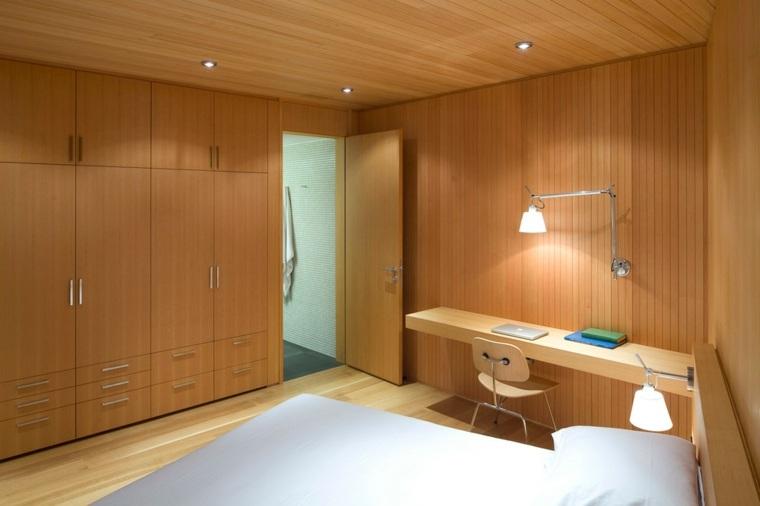 madera complementados espacios habitacion lineas