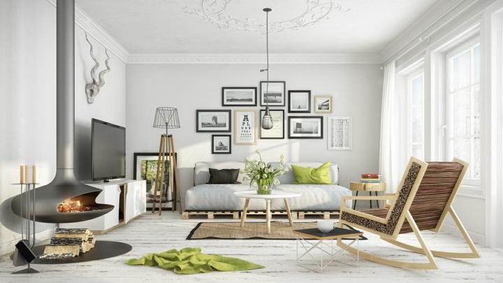 madera suelos blancos estilos chimeneas