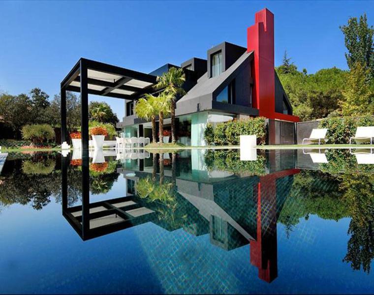 madrid villa chalet moderno fachadas