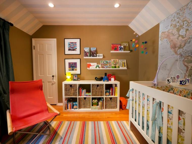 mapa colorido acento paredes compacto