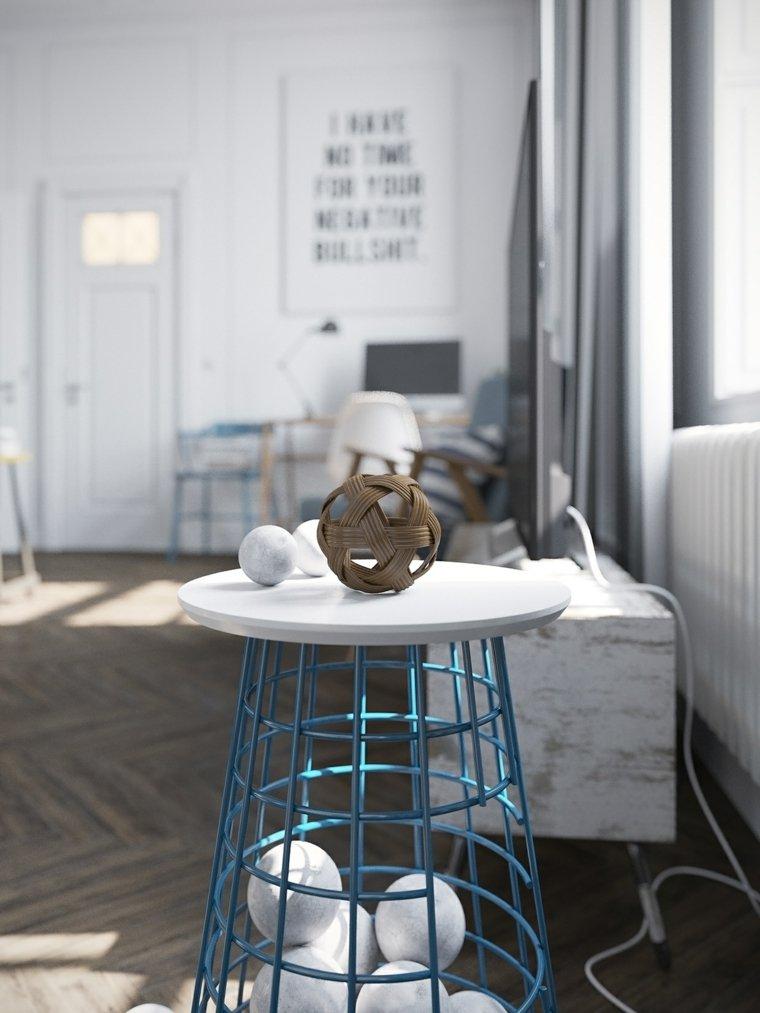 mesa acabado artistico ingeniosa esferas