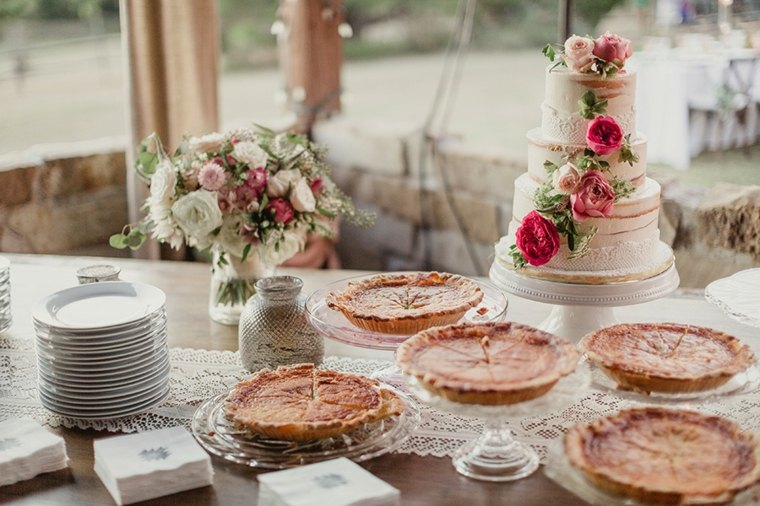 mesa de dulces para boda interior