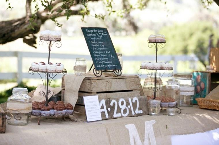 mesa de dulces para boda original