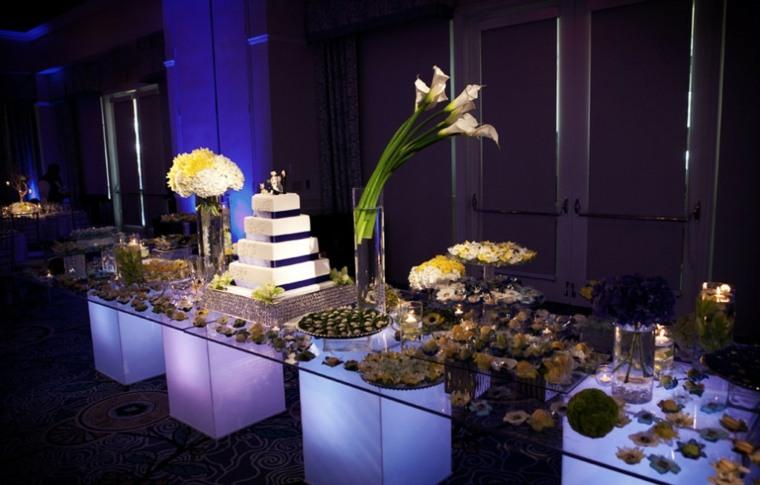 mesa de postres para bodas decorar